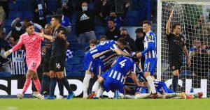 Brighton Hove Albion 3-2 Manchester City
